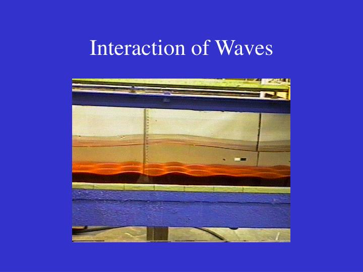 Interaction of Waves