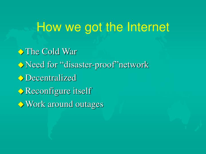 How we got the Internet