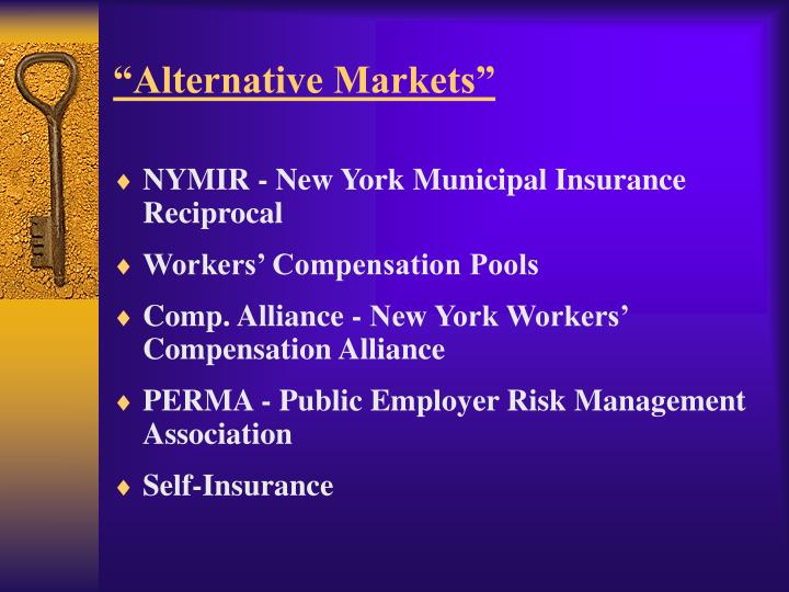 """Alternative Markets"""