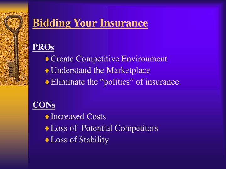 Bidding Your Insurance