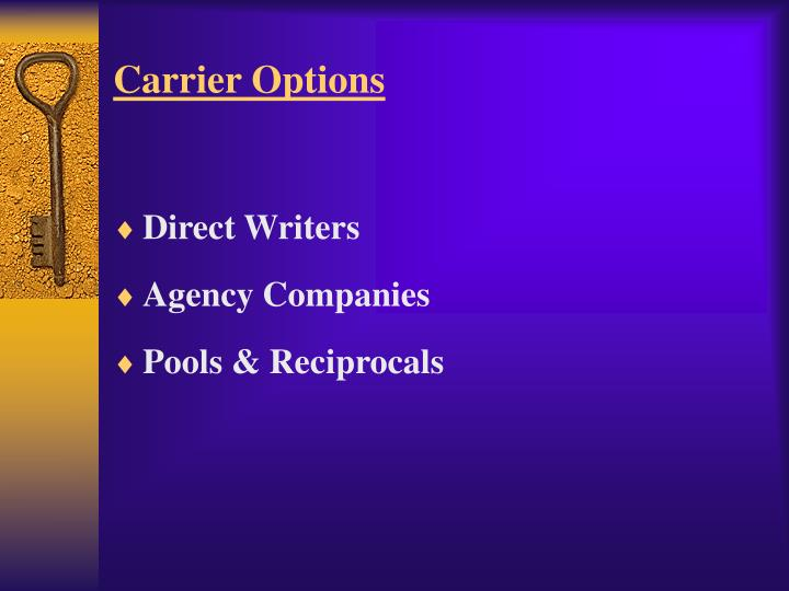 Carrier Options