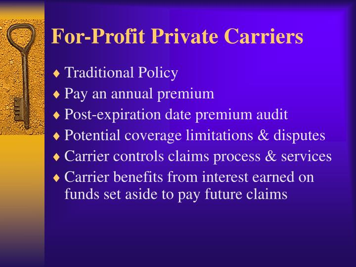 For-Profit Private Carriers