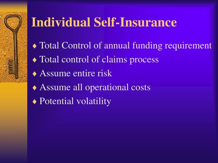 Individual Self-Insurance
