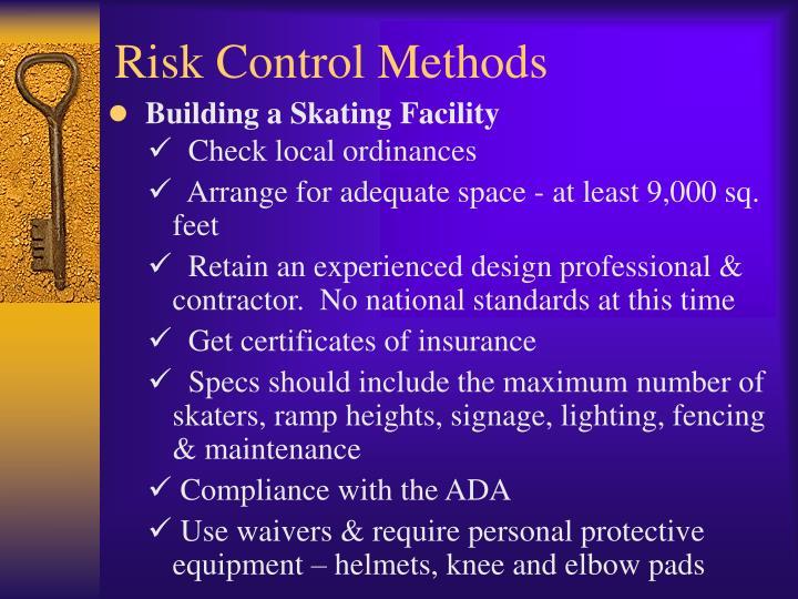 Risk Control Methods