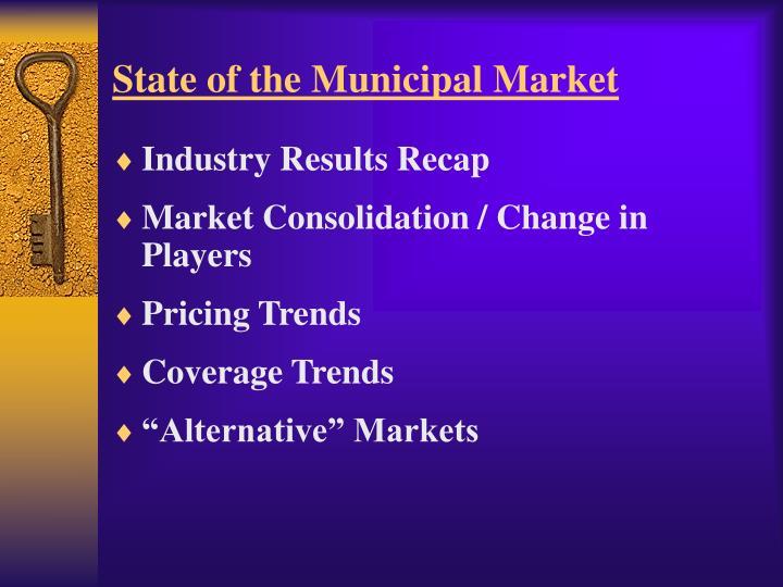 State of the Municipal Market