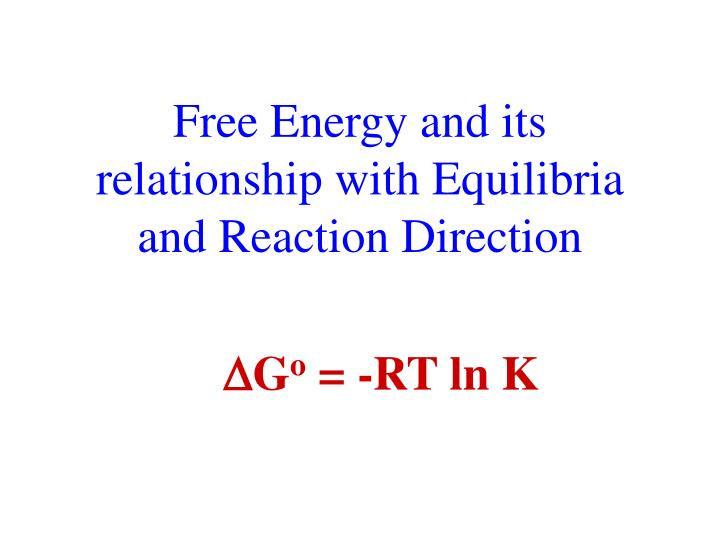 Free Energy and its relationship with Equilibria and Reaction Direction