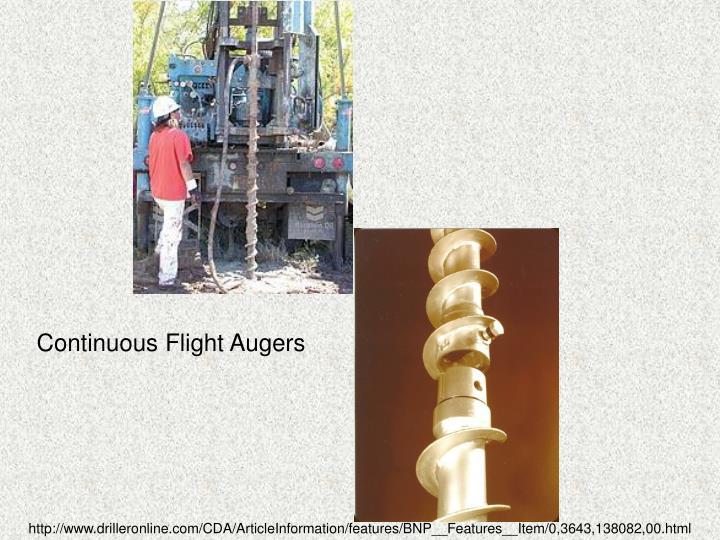 Continuous Flight Augers