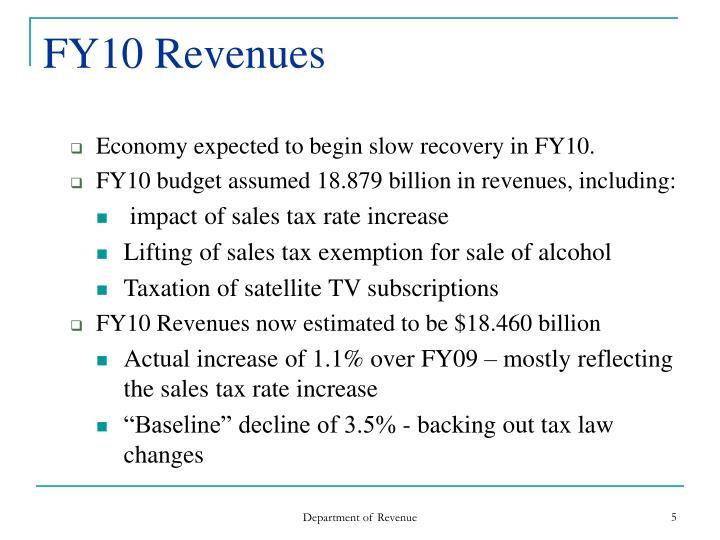 FY10 Revenues