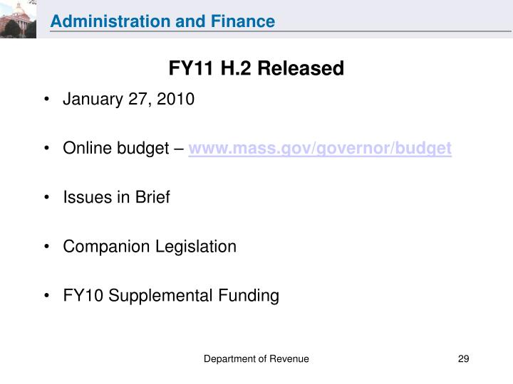 FY11 H.2 Released
