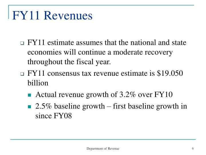FY11 Revenues
