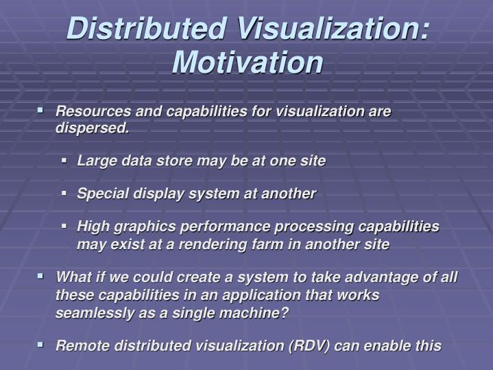 Distributed Visualization: Motivation