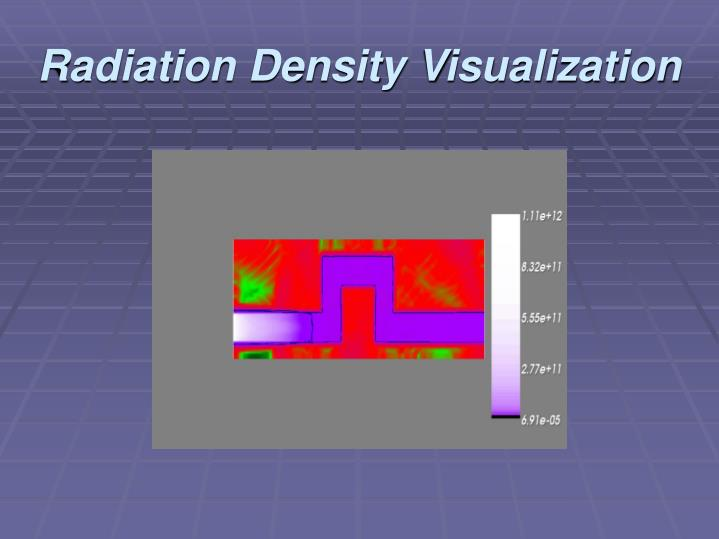 Radiation Density Visualization