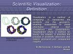 scientific visualization definition