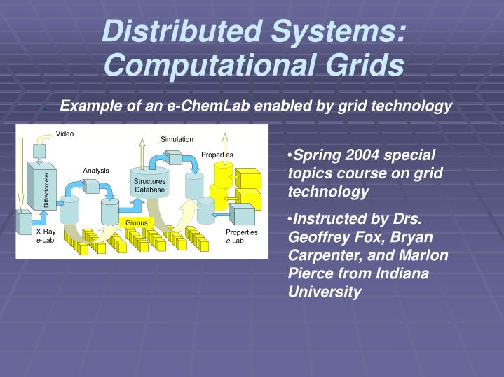 Distributed Systems: Computational Grids