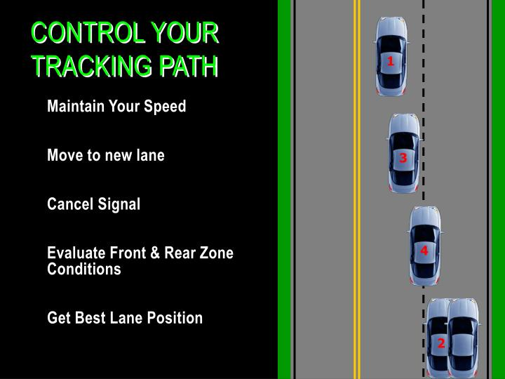 Control Your Tracking Path