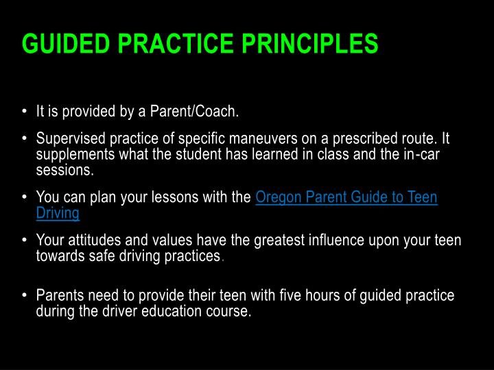 Guided Practice Principles