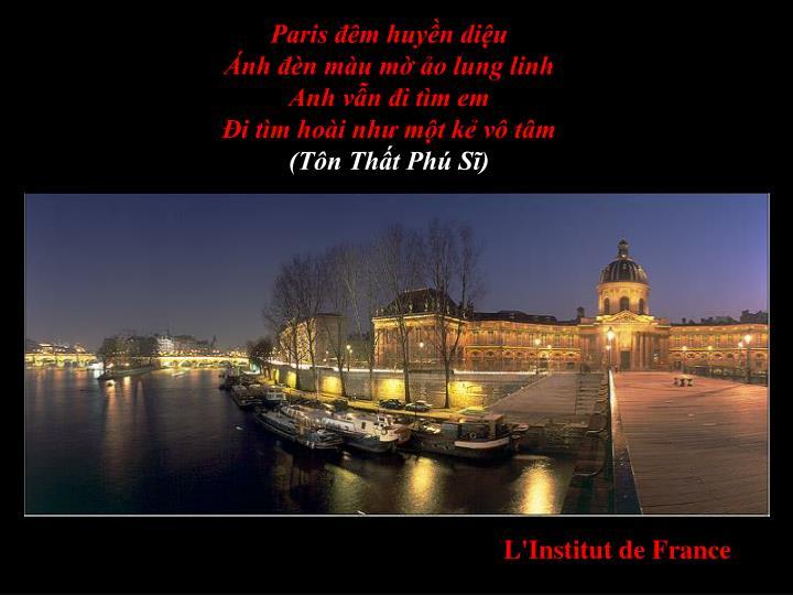 Paris đêm huyền diệu