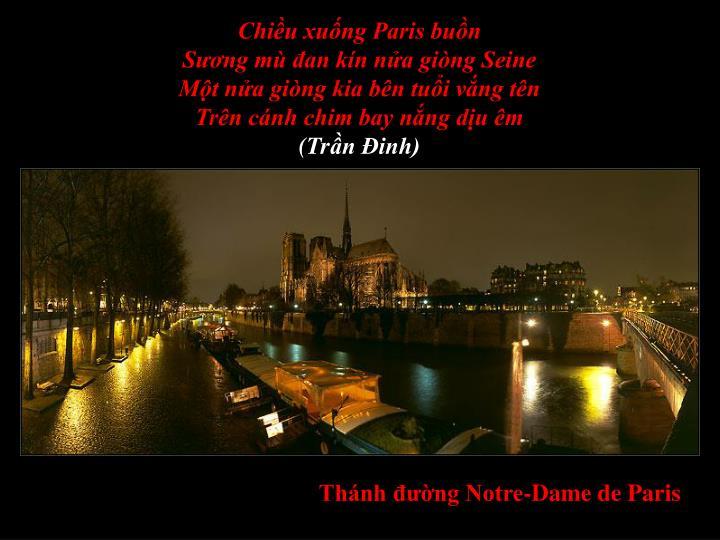 Chiều xuống Paris buồn