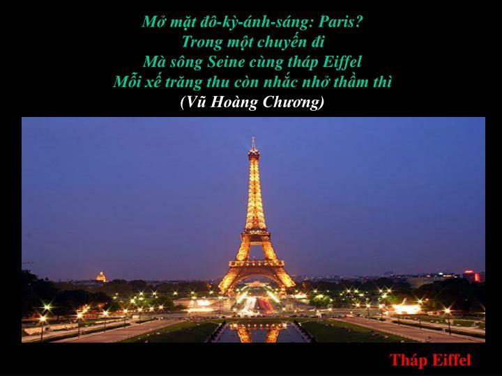 Mở mặt đô-kỳ-ánh-sáng: Paris?
