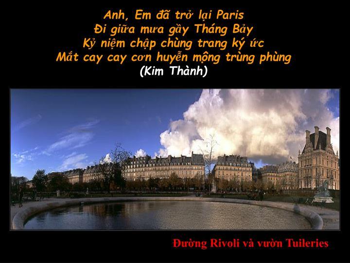 Anh, Em đã trở lại Paris