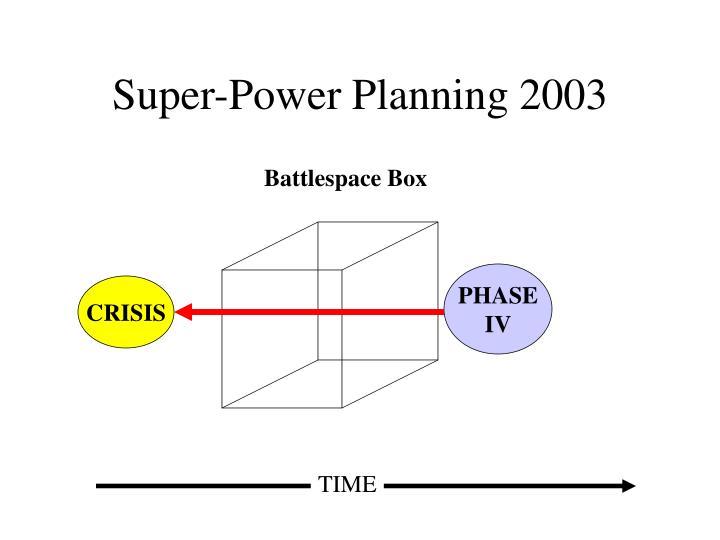 Super-Power Planning 2003
