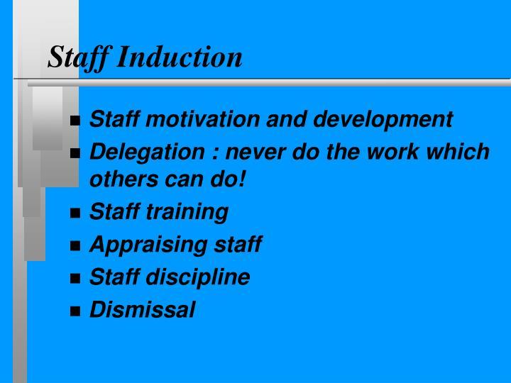 Staff Induction