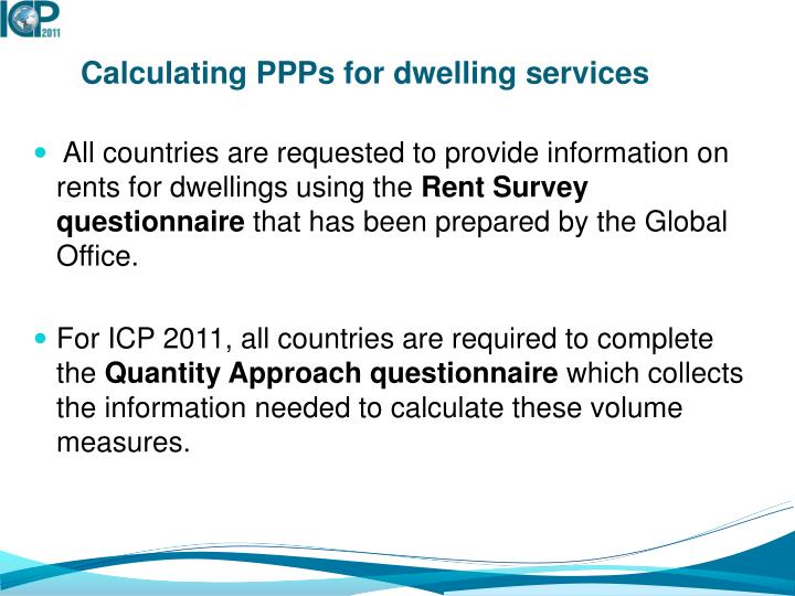 Calculating PPPs for dwelling services