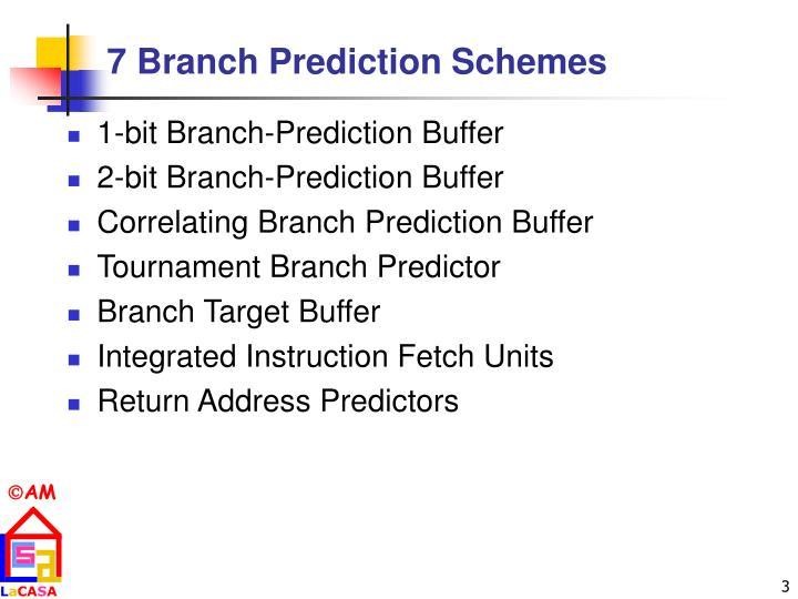 7 Branch Prediction Schemes