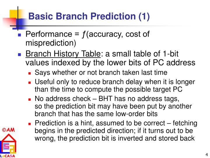 Basic Branch Prediction (1)