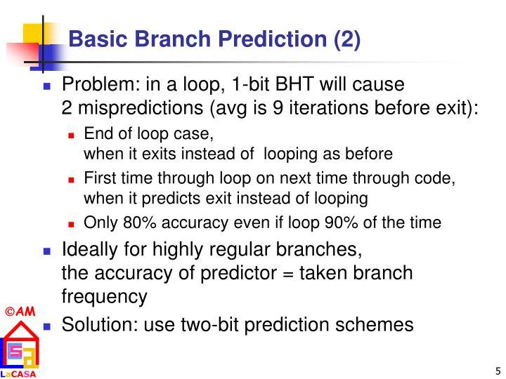 Basic Branch Prediction (2)