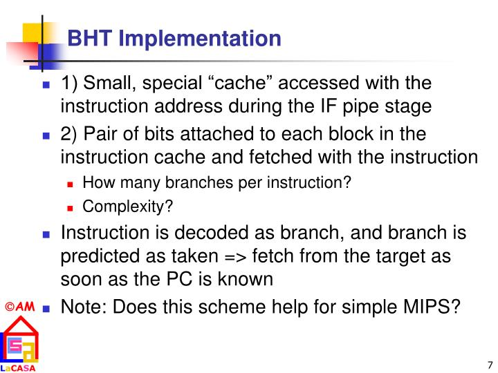 BHT Implementation