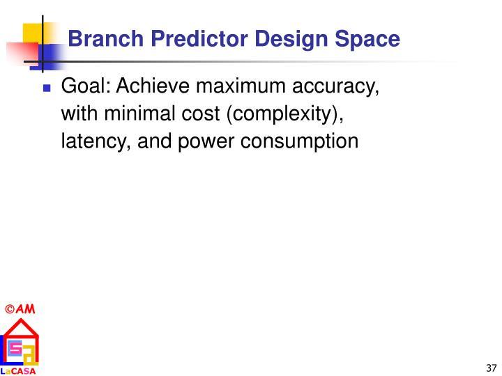 Branch Predictor Design Space