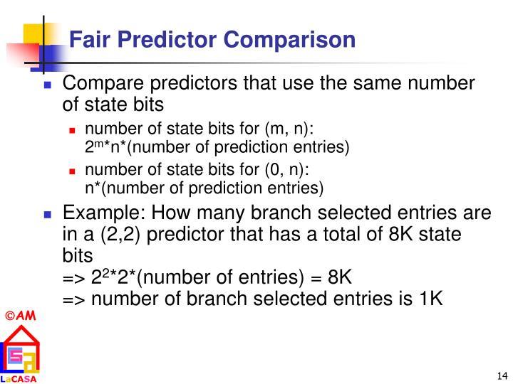 Fair Predictor Comparison