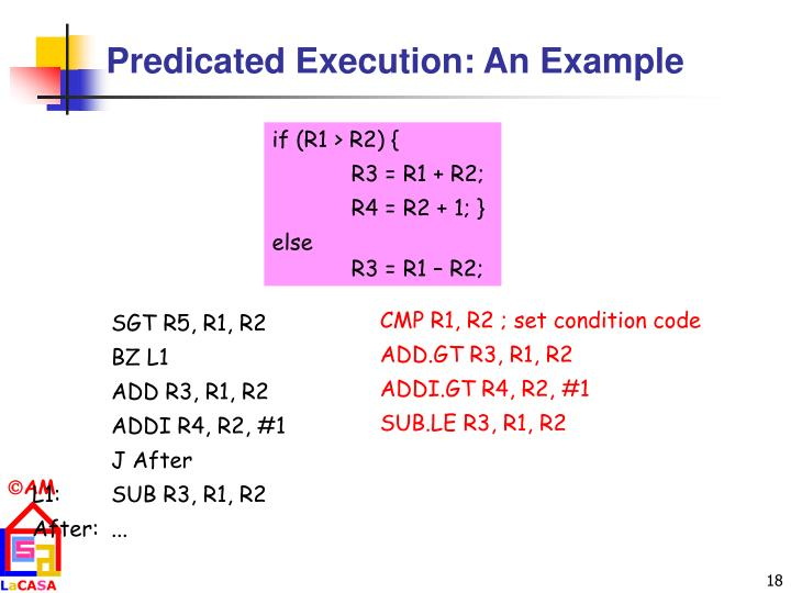 Predicated Execution: An Example