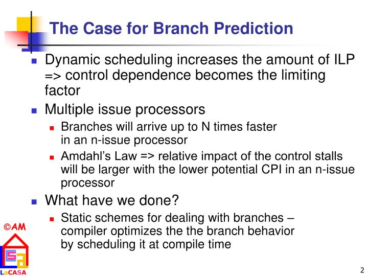 The Case for Branch Prediction