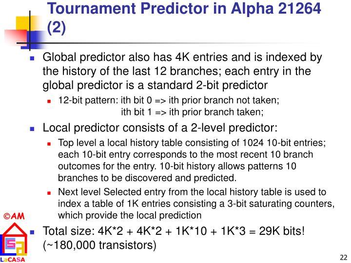 Tournament Predictor in Alpha 21264 (2)