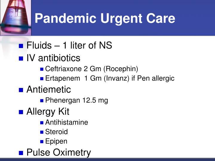 Pandemic Urgent Care