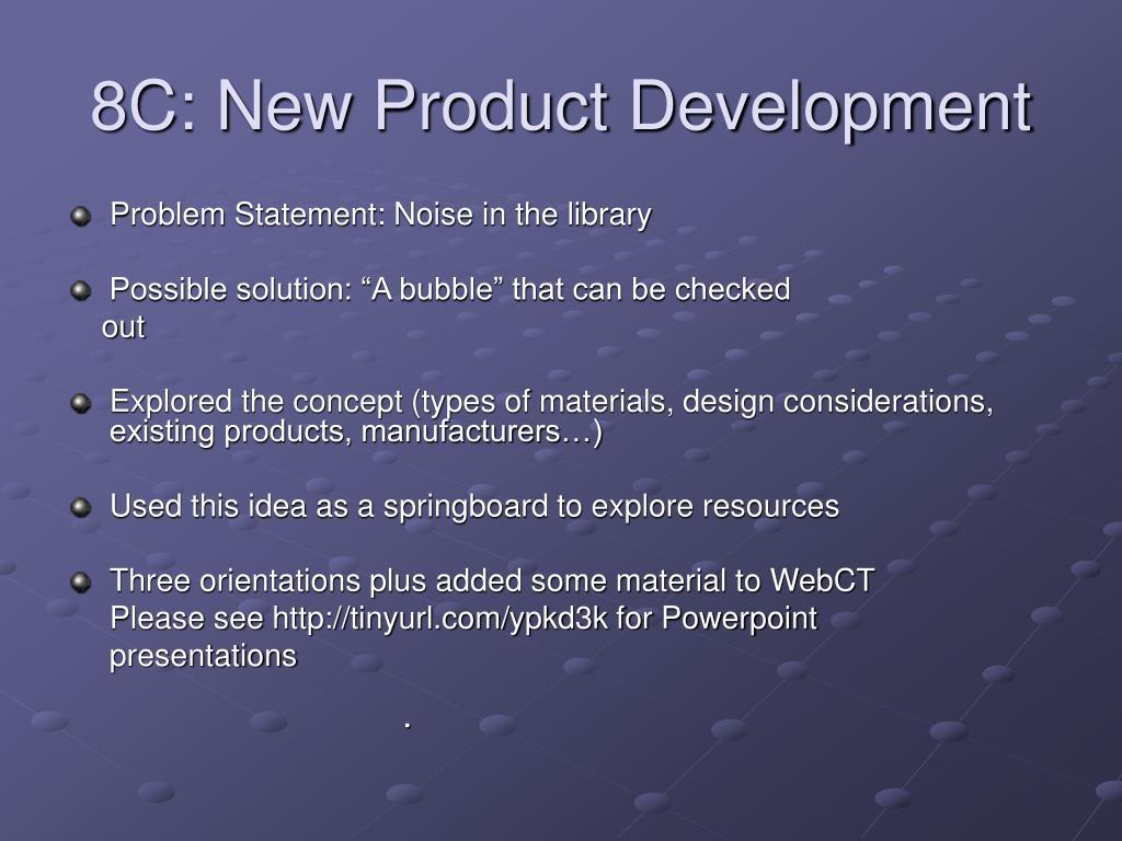 8C: New Product Development