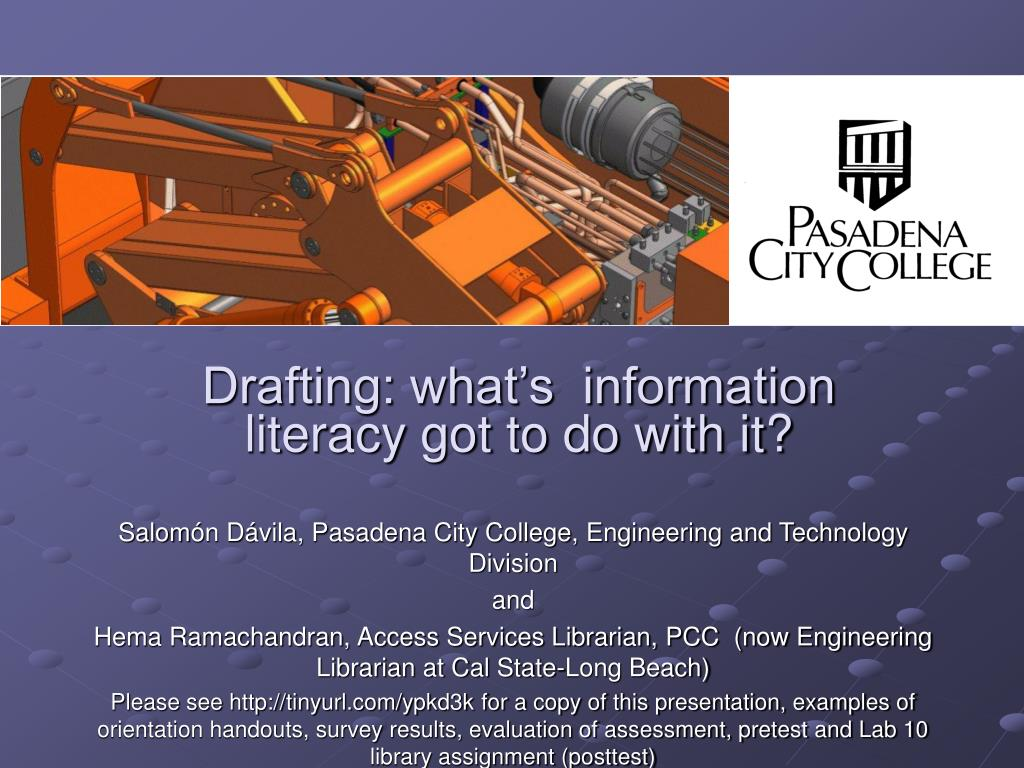 Drafting: what's  information literacy got to do with it?