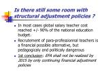 is there still some room with structural adjustment policies