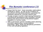 the bamako conference 2