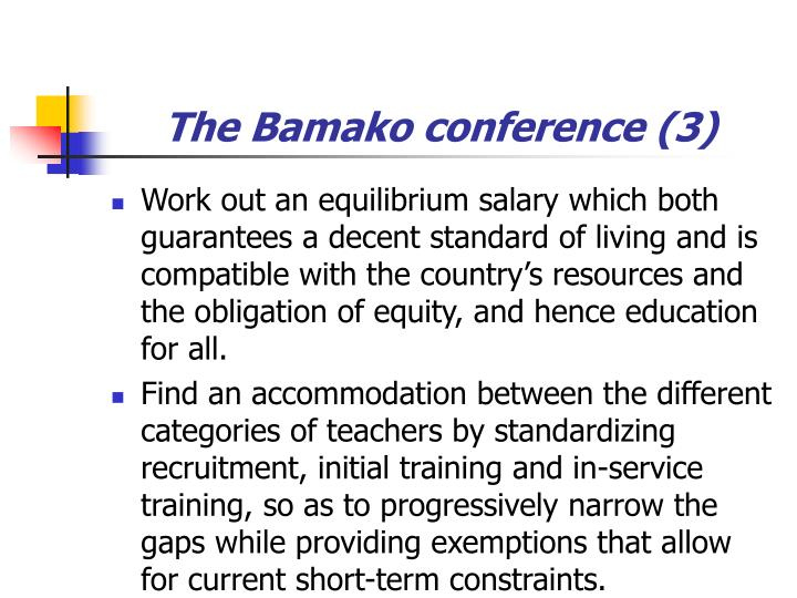 The Bamako conference (3)