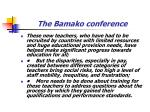 the bamako conference