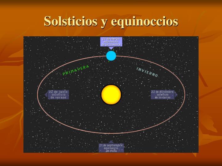 Solsticios y equinoccios