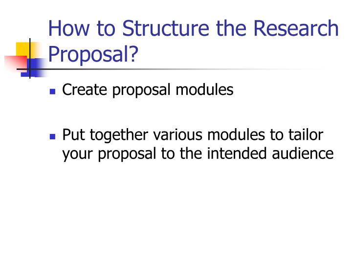 How to Structure the Research Proposal?