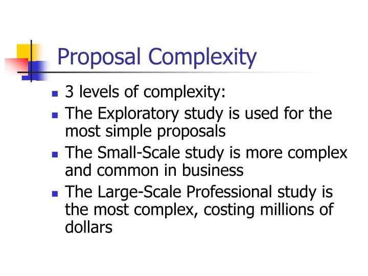 Proposal Complexity