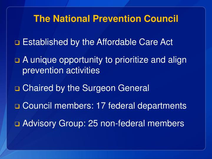 The National Prevention Council