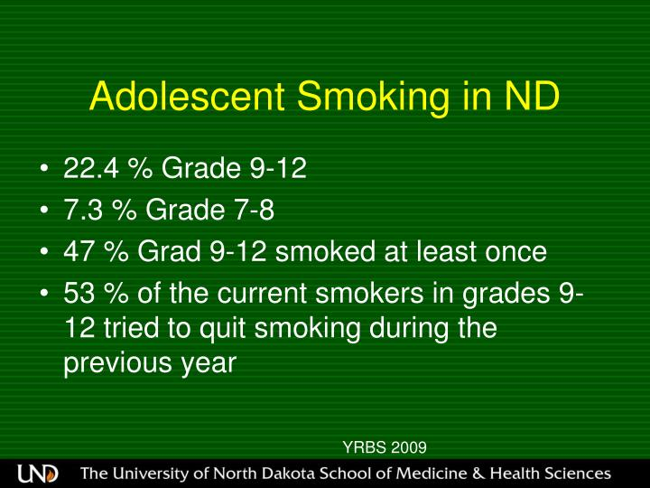 Adolescent Smoking in ND