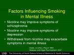 factors influencing smoking in mental illness