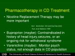 pharmacotherapy in cd treatment